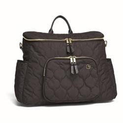 Satchel style 2 way changing bag, black/gold