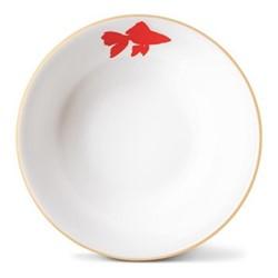 Goldfish Cereal bowl, H5.5 x Dia18cm, gold rim