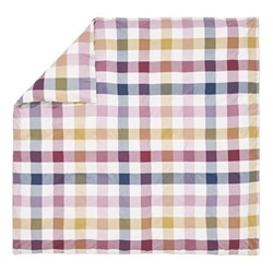 Country Ramble Check Super king size duvet cover, L220 x W260cm, plum