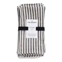 Harbour Stripe Set of 4 napkins, 46 x 44cm, black