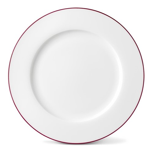 Rainbow Collection Dinner plate, 27cm, cerise pink rim