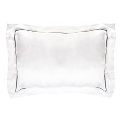 St Tropez King size pillowcase, 50 x 90cm, white/navy