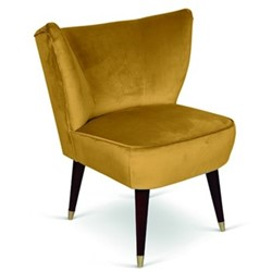 Westbury Armchair, H80 x W65 x D65cm, mustard
