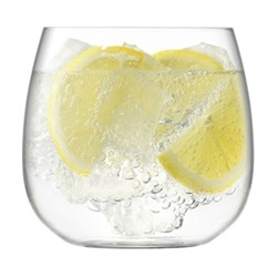 Borough Set of 4 stemless glasses, 370ml, clear
