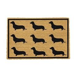 Dachshund Doormat, 60 x 40cm, natural/black