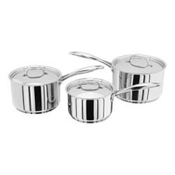 7000 3 piece saucepan set, stainless steel