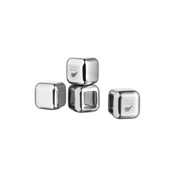City 4 piece ice cube set, H2.5 x W2.5 x L2.5cm, stainless steel