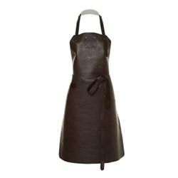 Ladies apron, medium, dark brown/dark brown
