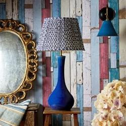 Fogarty Table lamp base only, W20 x H51cm, cobalt blue