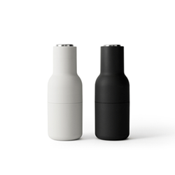 Bottle Pair of grinders, H21 x L8cm, Black & White