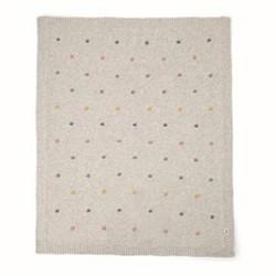 Spot Knitted blanket, 70 x 90cm
