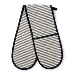 Harbour Stripe Double oven glove, 84 x 17cm, black