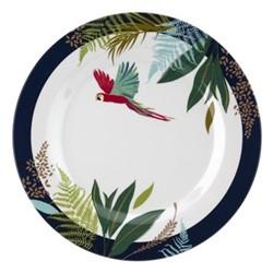 Parrot Set of 4 melamine side plates, 20cm, navy