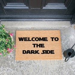 Welcome To The Dark Side Doormat, L60 x W40 x H1.5cm