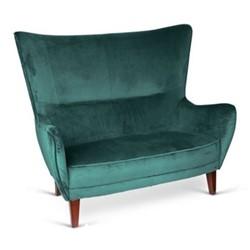 Romeo 2 seater sofa, H113 x L132 x D94cm, jade green velvet