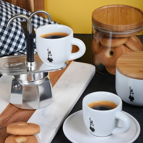 Mini Express Aluminium double serve coffee maker, 2 cup, silver