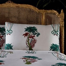 Jungle Palms - 200 Thread Count Pair of standard pillow cases, white
