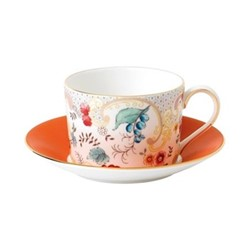 Wonderlust - Rococo Flowers Teacup and saucer, 15cl