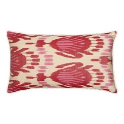 Ikat Cushion, 60 x 40cm, Pink/Red