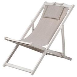 Classic deck chair, 85 x 98 x 57cm, plain fabric