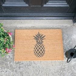 Pineapple Doormat, L60 x W40 x H1.5cm, grey