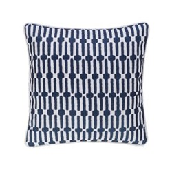 Fresh American - Links Recycled polyester P.E.T. indoor/outdoor cushion, 51 x 51cm, navy