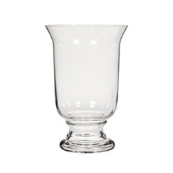 Newington Large hurricane vase, H40 x D26.5cm, clear