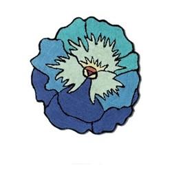Parma Bath mat, Dia80cm, turquoise