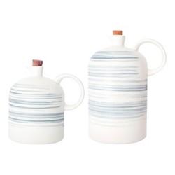 Charmouth Set of oil & vinegar cruet, 994ml/682ml, grey