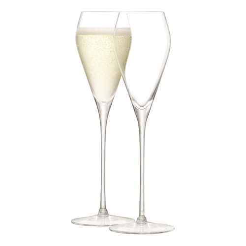 Wine Pair of prosecco glasses, 250ml, clear