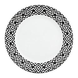 Addison Dinner plate, 27cm, black and white