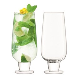 Rum Pair of mixer glasses, 550ml, clear