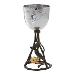 Pomegranate Kiddush cup, H16 x Dia8cm, gold, silver & brown