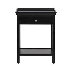 Aldwych Tall side table, W52 x D52 x H65cm, warm black