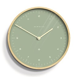 Mr Clarke Wall clock, Dia40cm, green & plywood