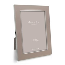 "Enamel Range Photograph frame, 8 x 10"" with 24mm border, pebble with silver plate"