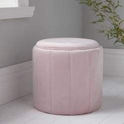 Round plush stool, L43 x W43 x D42cm, pink