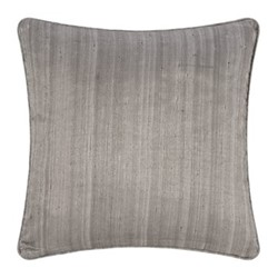 Silk cushion, 45 x 45cm, silver