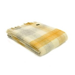 Meadow Check Throw, L150 x W183cm, yellow