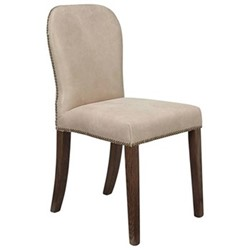 Stafford Chair, L45 x W59 x H92cm, china clay leather
