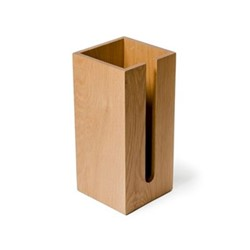 Mezza Loo roll holder box, H33.5 x W15.5 x D15.5cm, oak