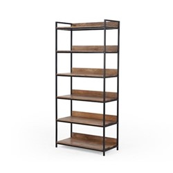 Lomond Wide shelves, H188 x W86 x D40cm, mango wood/black