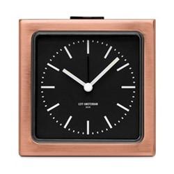 Block Alarm clock, H8.5 x L8.5 x D6cm, copper
