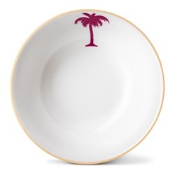 Palm Tree Cereal bowl, H5.5 x Dia18cm, gold rim
