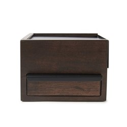 Mini stowit Jewelry box, 15 x 17 x 11cm, black/walnut