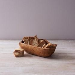 Kew Oval serving bowl, L27cm, olive wood