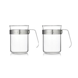 Electric steel Set of 2 metal frame cups, electric steel