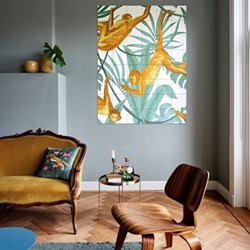 Graphic - Monkeys & Giraffes Wall decoration, 120 x 160cm