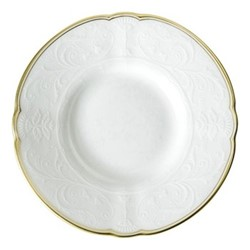 Darley Abbey Pure Gold Coffee saucer, 12cm, white/gold