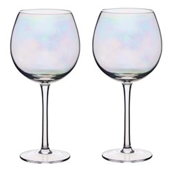 BarCraft Pair of gin glasses, 22cm - 0.5 litre, lustre